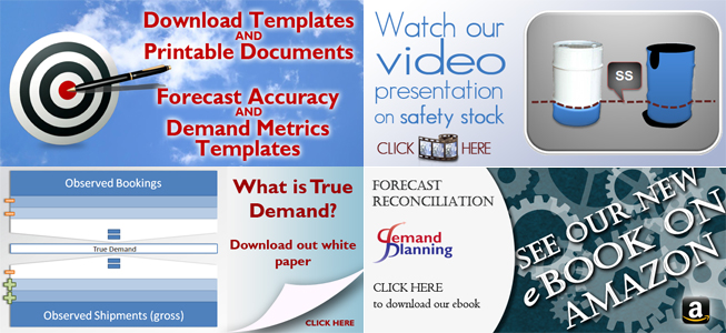 Download Templates and Printable Documents, Accuracy across SKUs, Demand Metrics Diagnostics, Forecast Accuracy Presentation, True Demand
